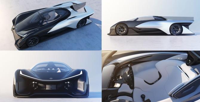 중국 기업 패러데이퓨처는 컨셉카 'FF제로01'를 내세우며 테슬라가 선점한 고급형 전기차 시장에 도전장을 내밀었다.  - Faradayfuture 제공